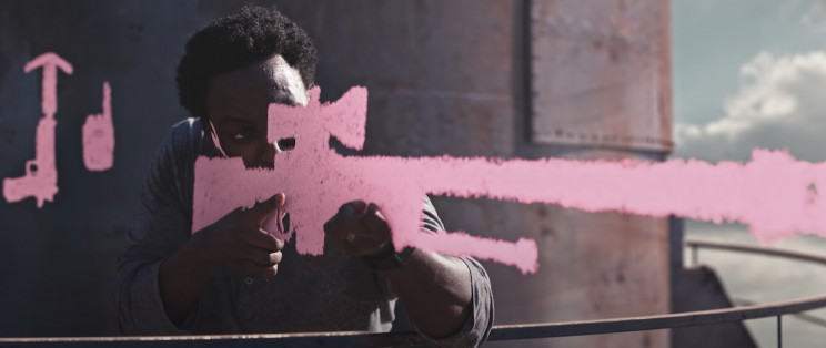 Action Heroes Battle It Out Using Chalk Drawn Weapons in This Epic Short Film