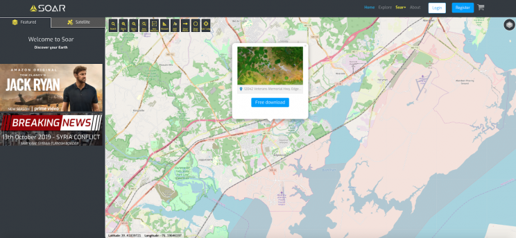 View SuperView Satellite Imagery on This Supermap Platform