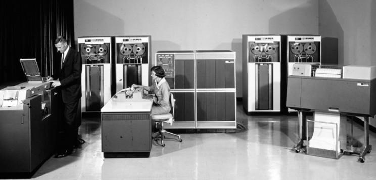 IBM mainframe and disks