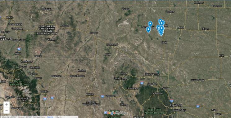 South Dakota abandoned natural gas wells