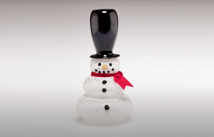 glass sculpture snowman