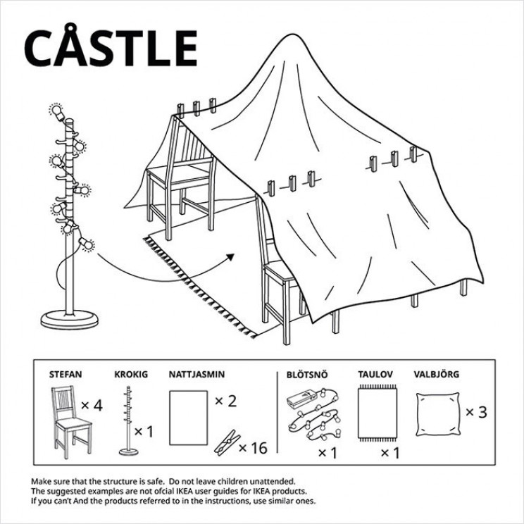 IKEA Shares Instructions on How to Build Furniture Forts Amid Quarantine
