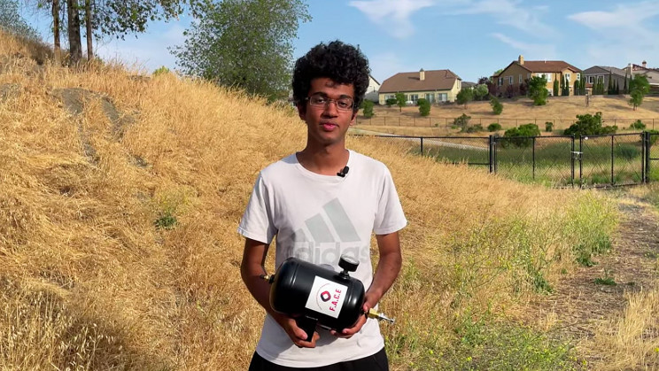 Student Designs Novel Extinguisher To Protect Homes From Wildfires