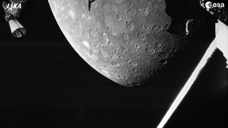 Hello Mercury! Europe-Japan Mission Captures Its First Picture of the Planet