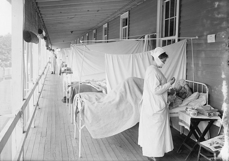 Flu patients at Walter Reed Army Hospital