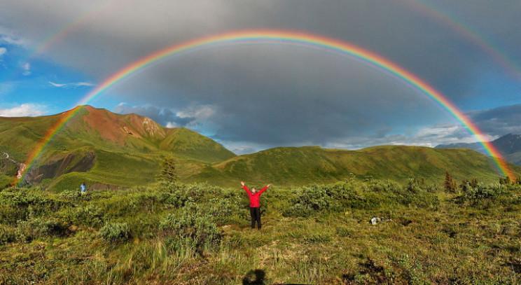 Seven colors of a rainbow