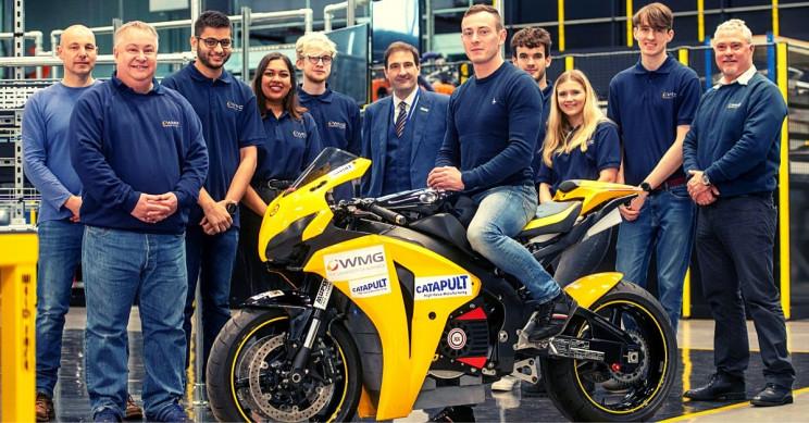 Warwick Team Debuts New Design of Aurora Electric Superbike