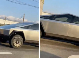 Tesla's Cybertruck Caught on Camera on the Streets of LA for the First Time Ever