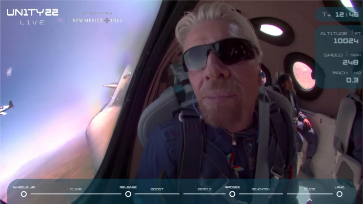 Richard Branson Becomes the First Billionaire in Space