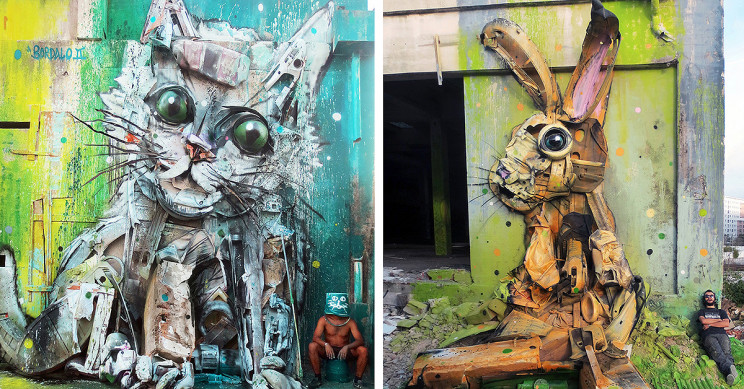 Bordalo II: Turning Trash Into Stunning Animal Art Pieces