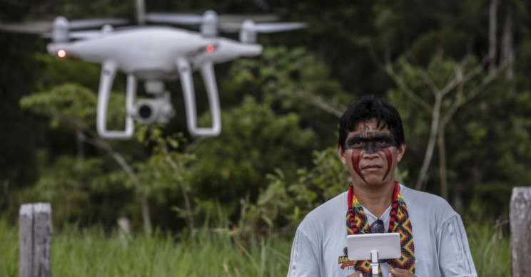 Amazon Tribes Use Drones to Watch Over the Forest