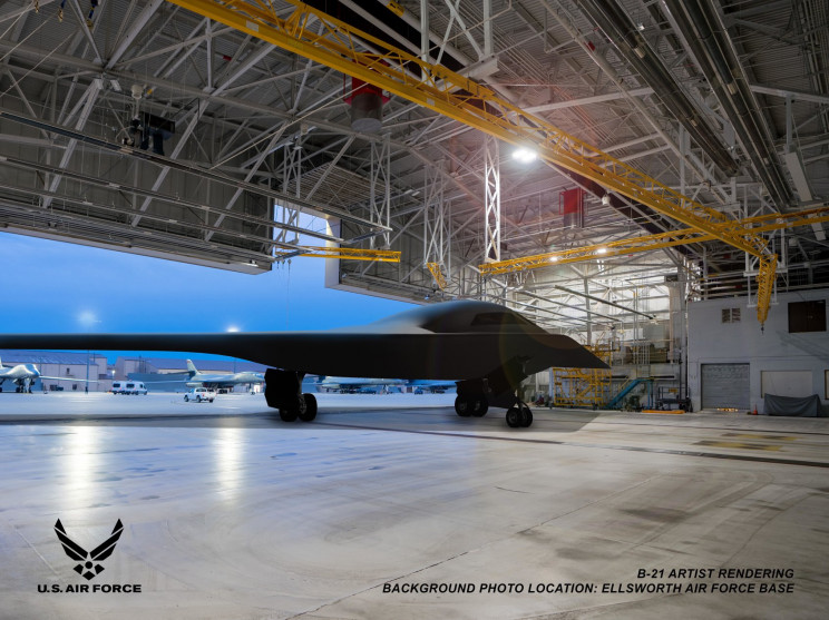 US Air Force Reveals Images of B-21 Stealth Bomber Prototype