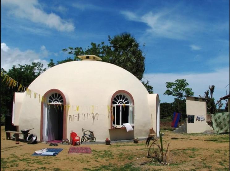 bizarre houses domes