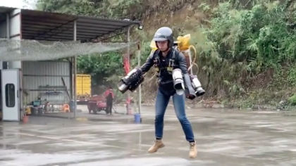 Chinese Engineer Builds 'Iron Man' Jetpack for $100,000