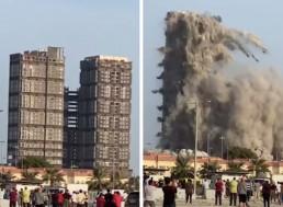 144-Floor Plazas Demolished in Abu Dhabi Within 10 Seconds