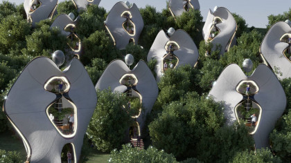 Architects Design World's First Houses With '3D-Printed Steel Exoskeleton'
