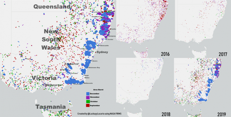 5 Images That Show the Devastating Scale of the Australia Bushfires