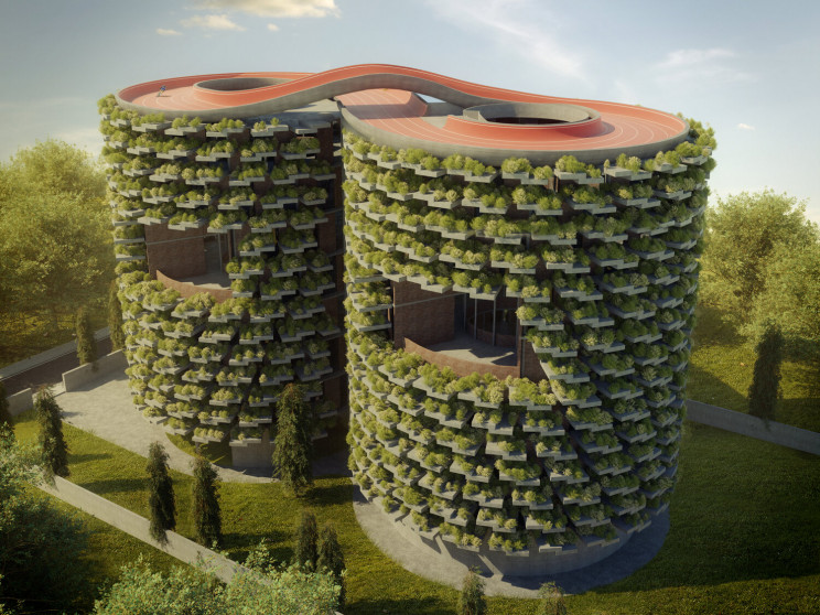 This Forest School Will Be Built in India With an Infinity Cycling Track on Its Roof