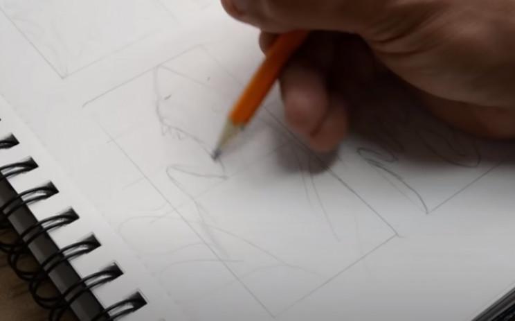 power carve walnut shark sketch