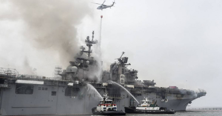 The USS Bonhomme Richard Ship Fire May Have Been Arson