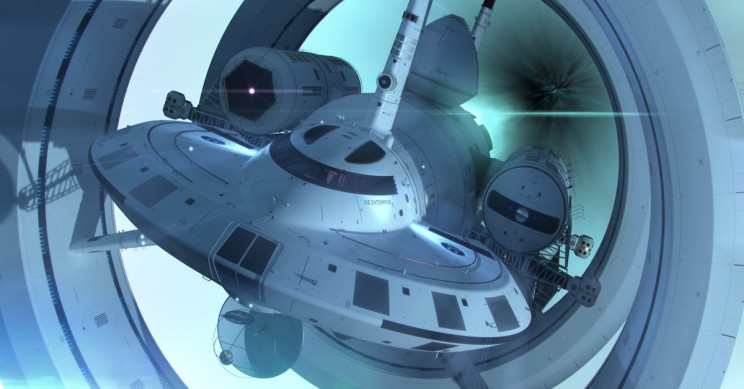 A Faster-Than-Light Warp Drive-Powered Spaceship May Be Possible