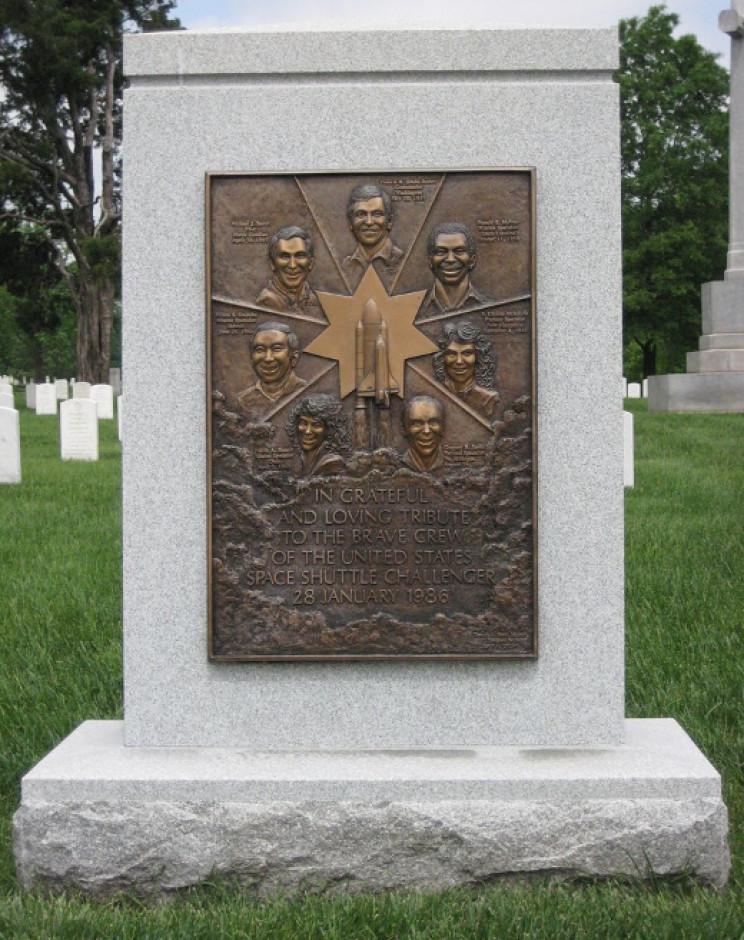 Challenger memorial at Arlington National Cemetery
