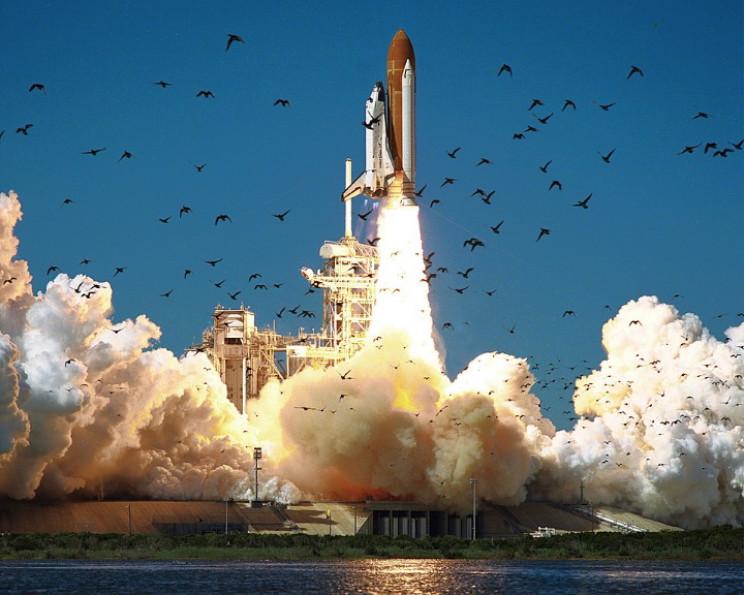 Challenger launching
