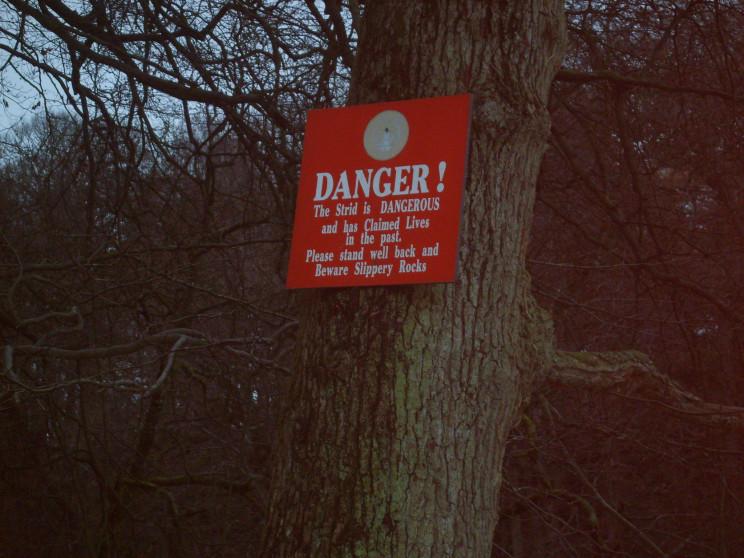 Bolton Strid Sign