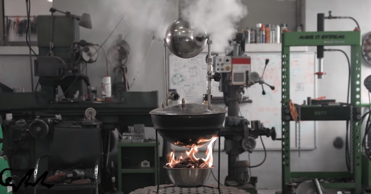 YouTubers Craft Modern Replica of First Ever Steam Engine