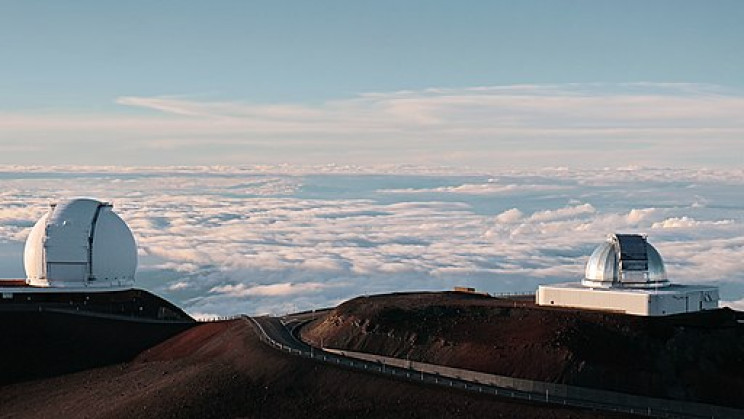 Keck and NASA Telescopes. Mauna Kea Summit, Big Island, Hawaii, United States