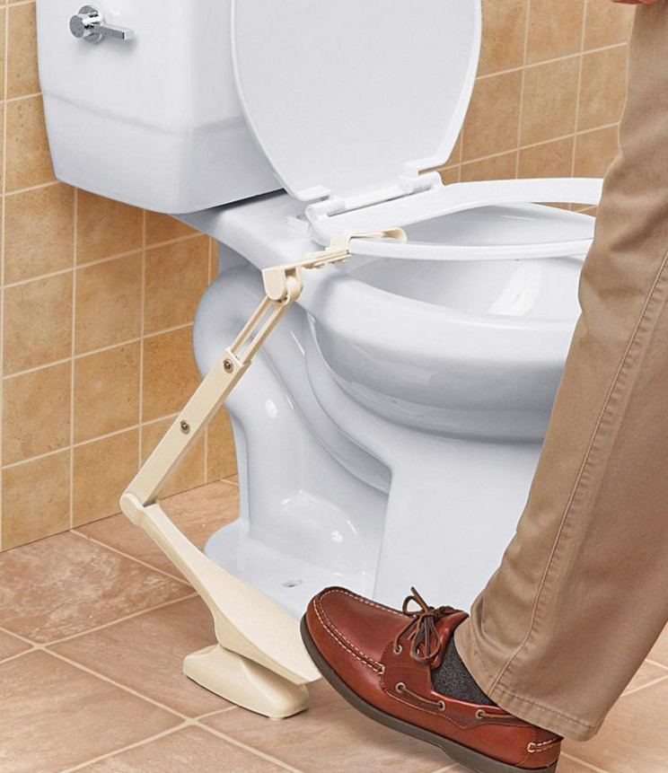 lazy inventions toilet pedal