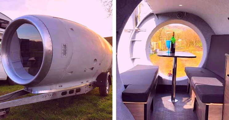 Hollowed-Out Jet Engine Camper Took 6 Years, 1,000 Hours to Build