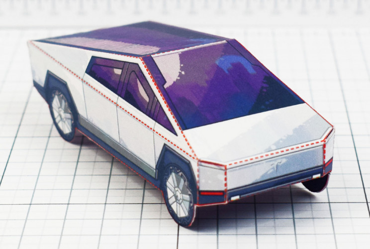 You Can Create Your Very Own Paper Tesla Cybertruck