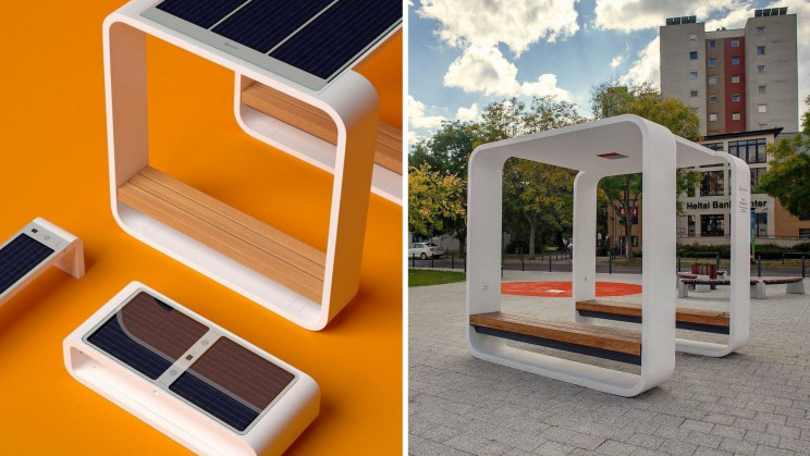 Solar-Powered Smart Benches Charge Phones, Offer WiFi