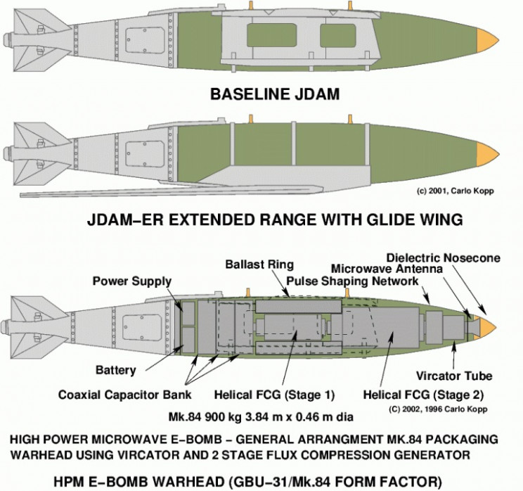 examples of theorized e-bombs