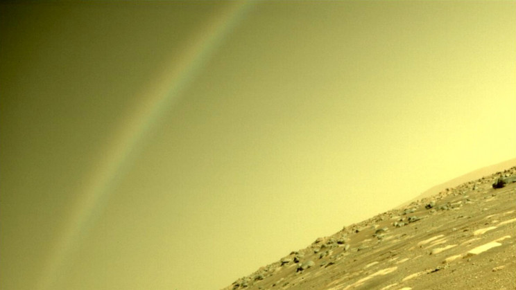 NASA: No, That Wasn't a Rainbow on Mars