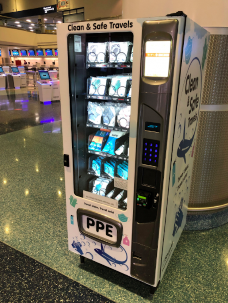 Vegas Airport Installs Vending Machines to Sell PPE, Receives Mixed Reviews