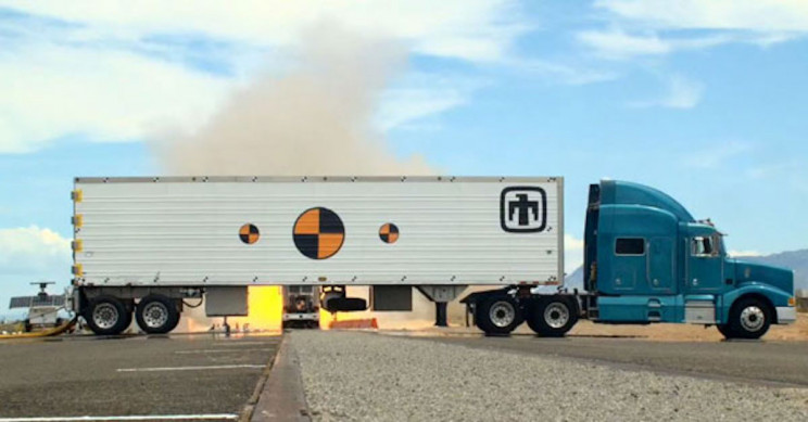 Semi Truck Slams into Tractor Trailer Built to Carry Nuclear Weapons