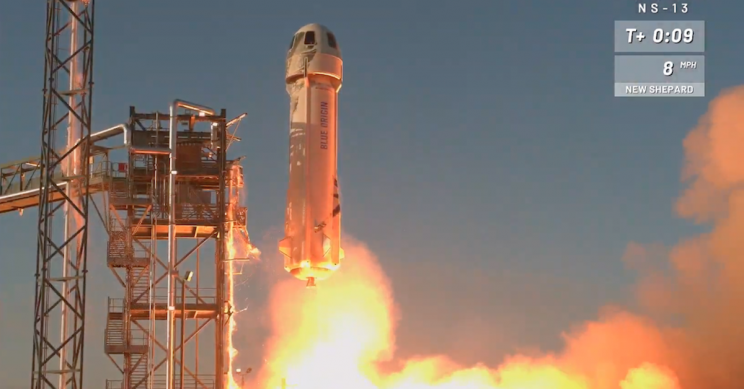 Jeff Bezos' Blue Origin Sets Reusability Record With New Rocket Launch