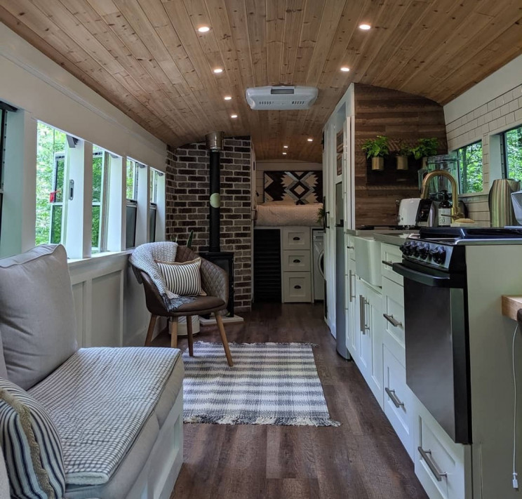 This Couple Converted a School Bus Into Their Dream Travel House