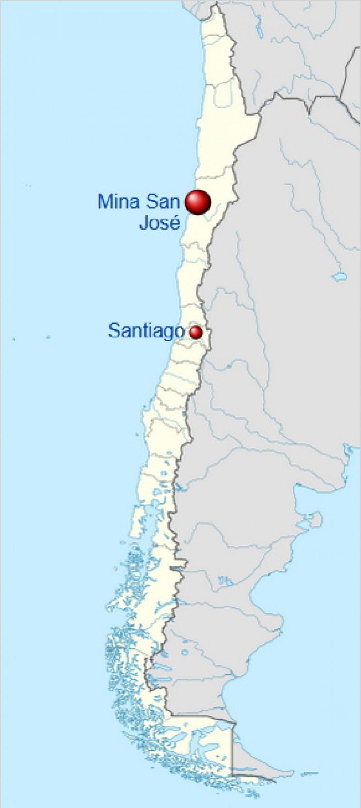 Location of San Jose Mine