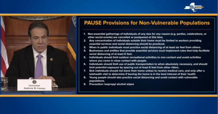 New York State Pause Policies Coronavirus