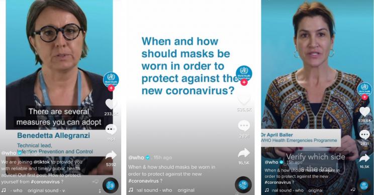 WHO Creates TikTok Account to Fight Spread of Coronavirus Misinformation