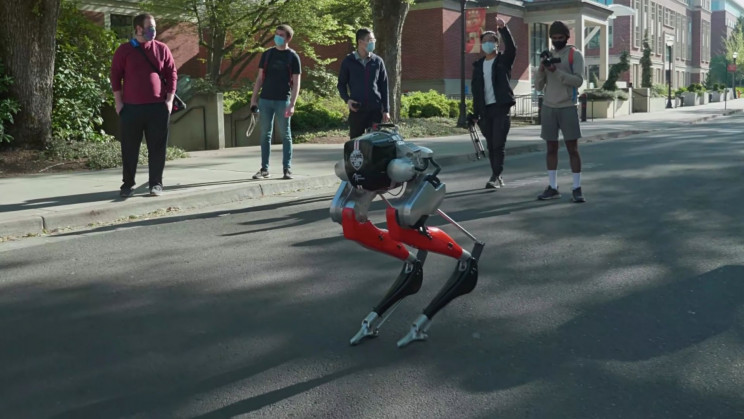 Bipedal Robot Learns to Run and Completes 5K