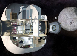 Sierra Nevada Reveals Inflatable Prototype Module for Orbital Moon Station
