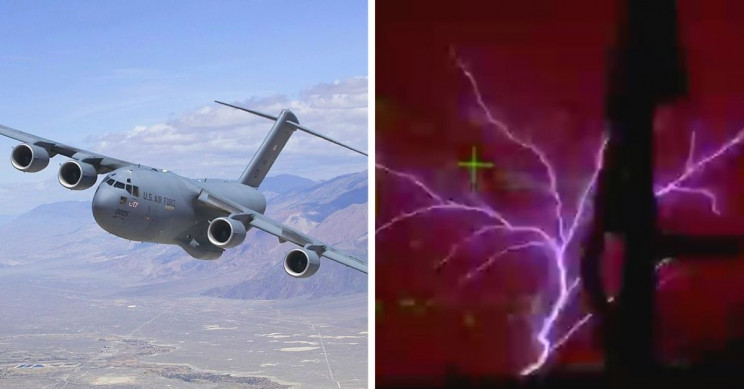 Eerie Weather Effect St. Elmo's Fire Captured on Camera From C-17 Cockpit