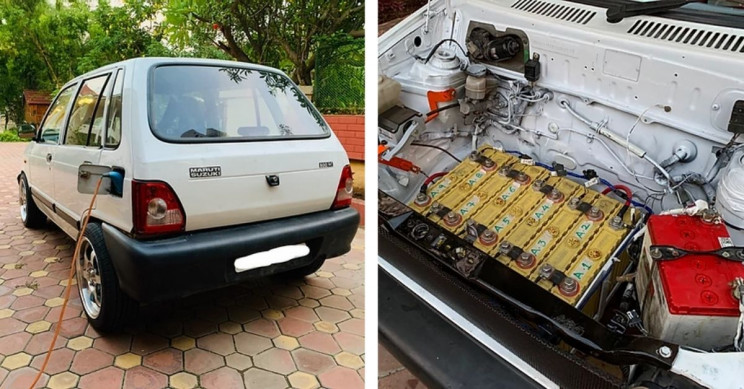 EV-Converted Maruti Suzuki 800 Has More Torque Than Ford F-150 Pickup Truck