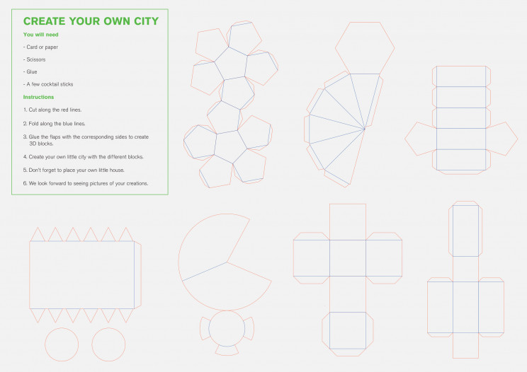 Architecture Studio Releases Templates for Children to Create Paper Cities