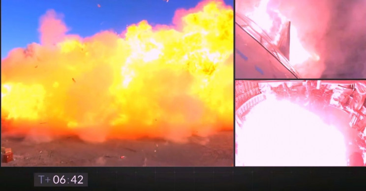 SpaceX Starship Exploding