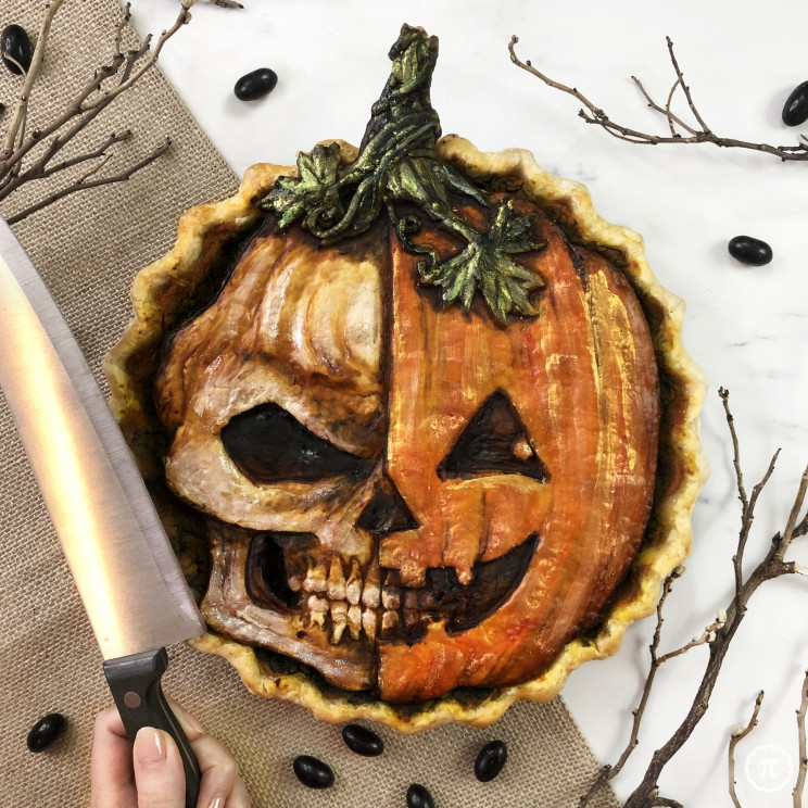 This Baker Adds a Spooky Touch to Halloween Pies